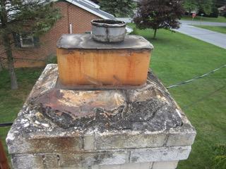 Chimney Crown Repair - Before Image